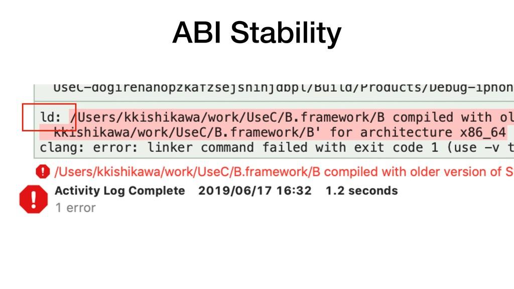 ABI Stability