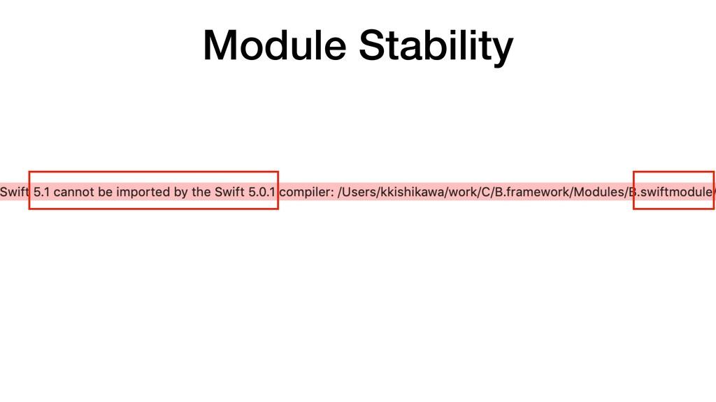 Module Stability