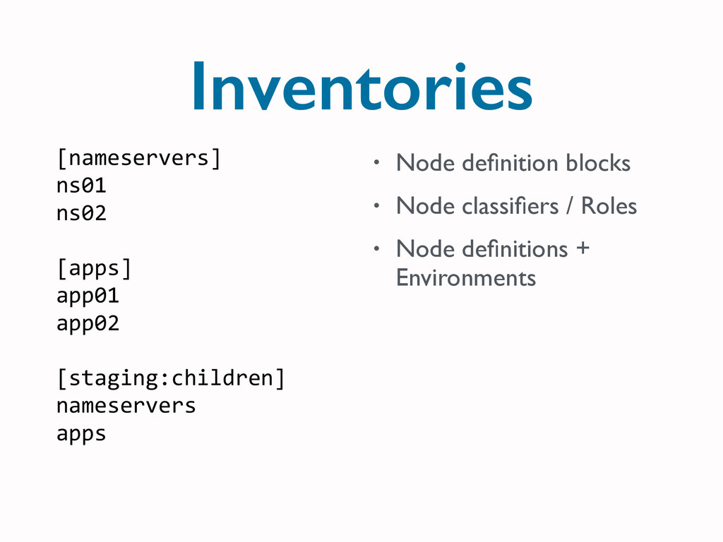 Inventories [nameservers]