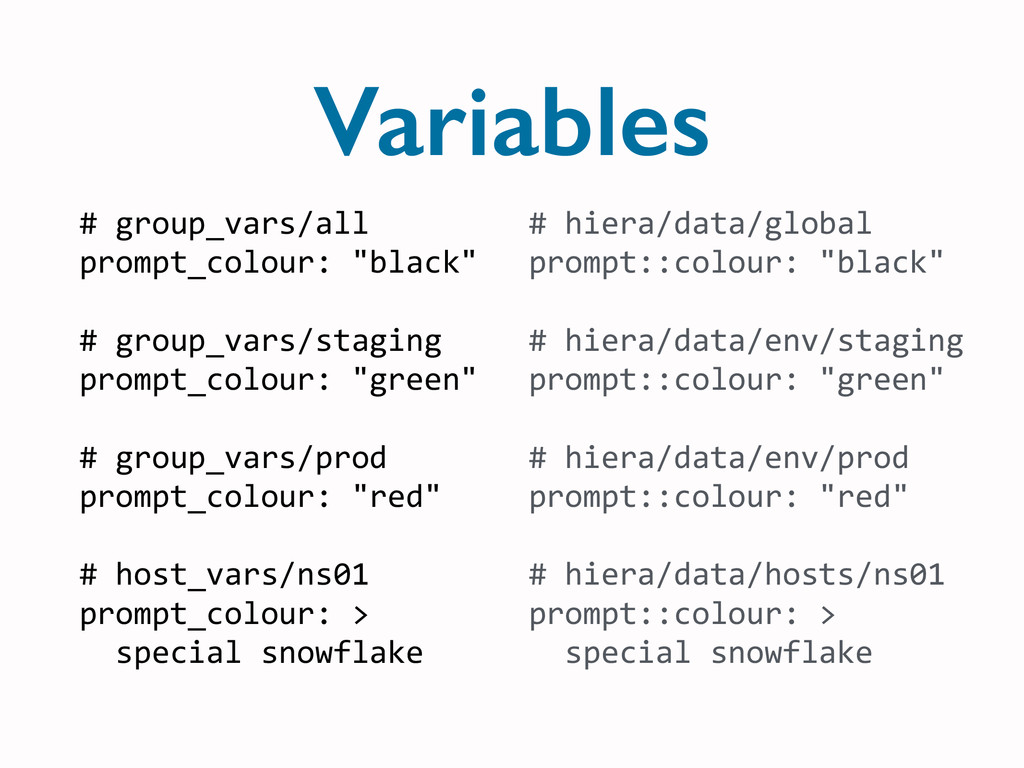 Variables #	