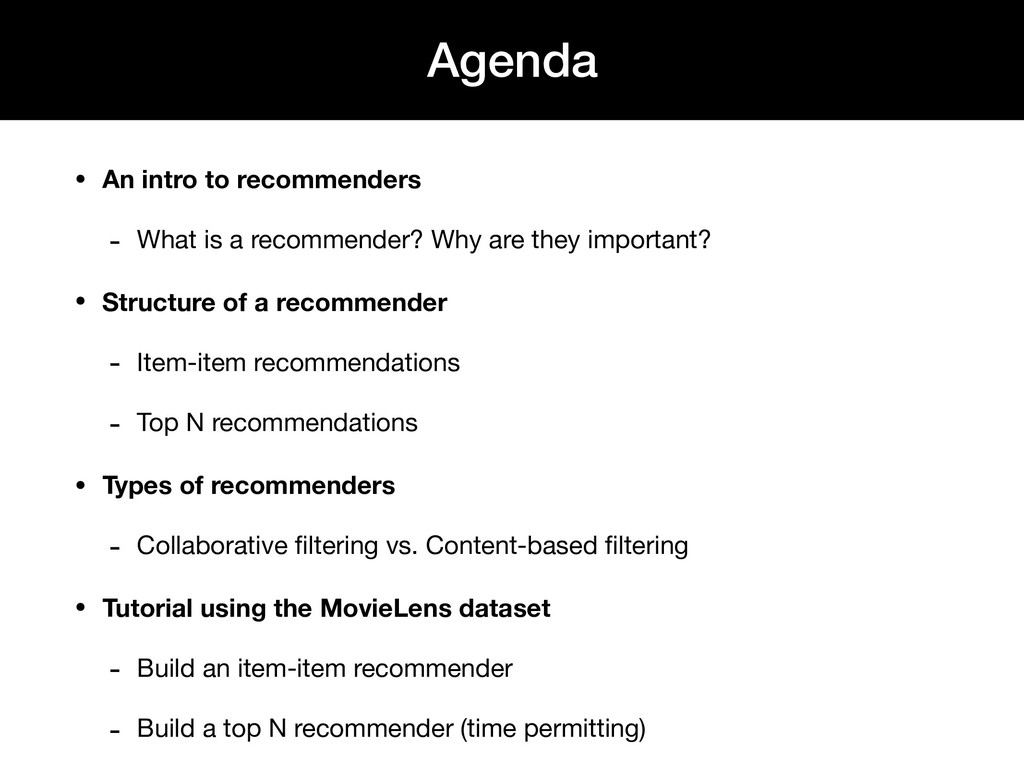 • An intro to recommenders - What is a recommen...