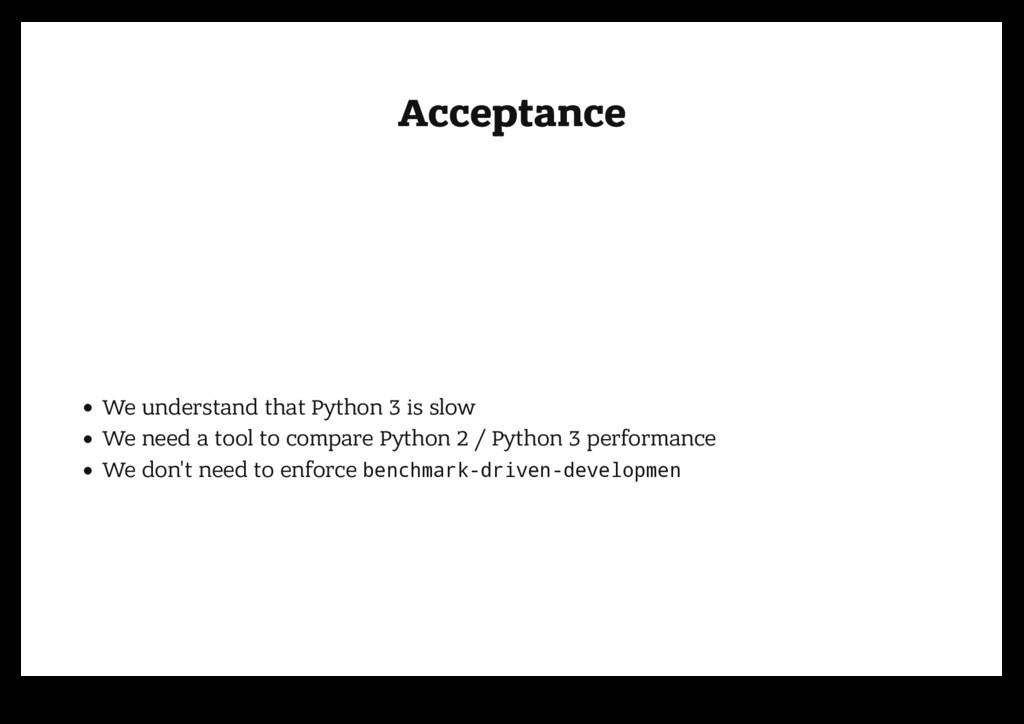 Acceptance Acceptance We understand that Python...