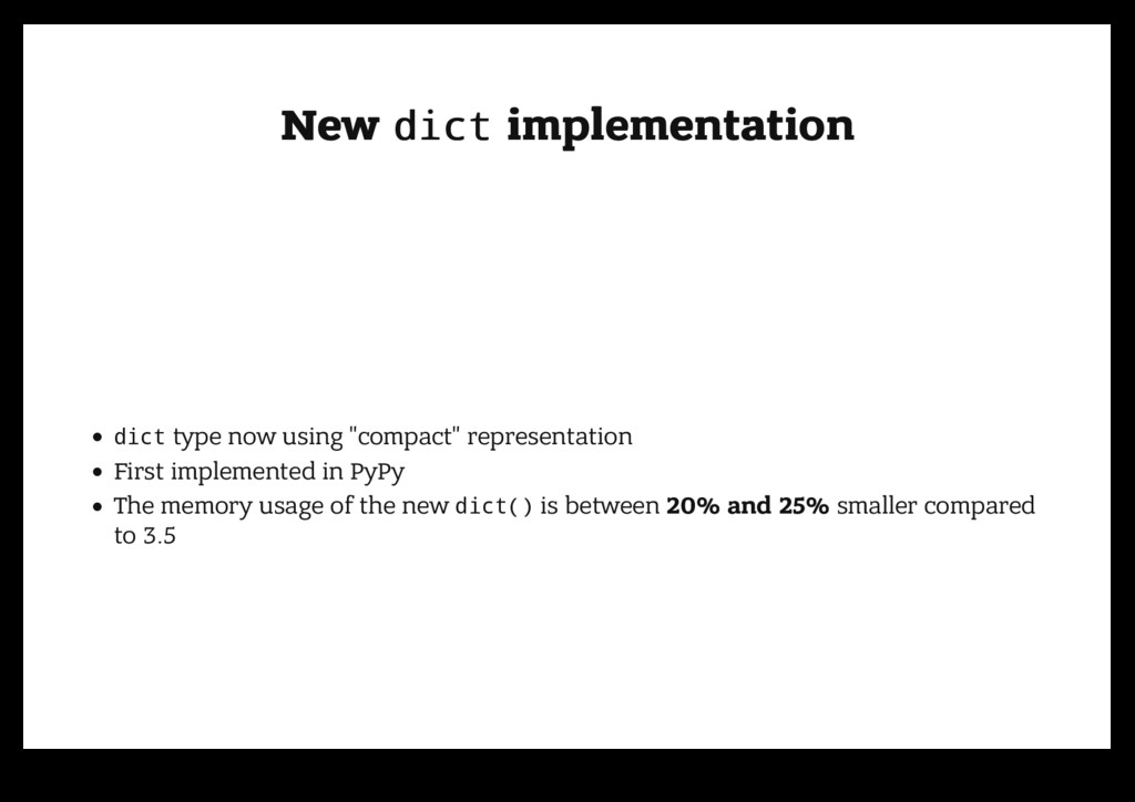 New New dict dict implementation implementation...