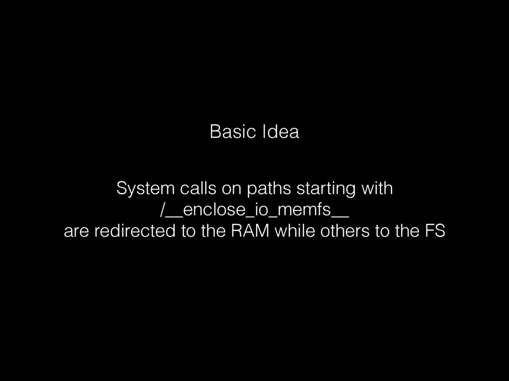 Basic Idea System calls on paths starting with...