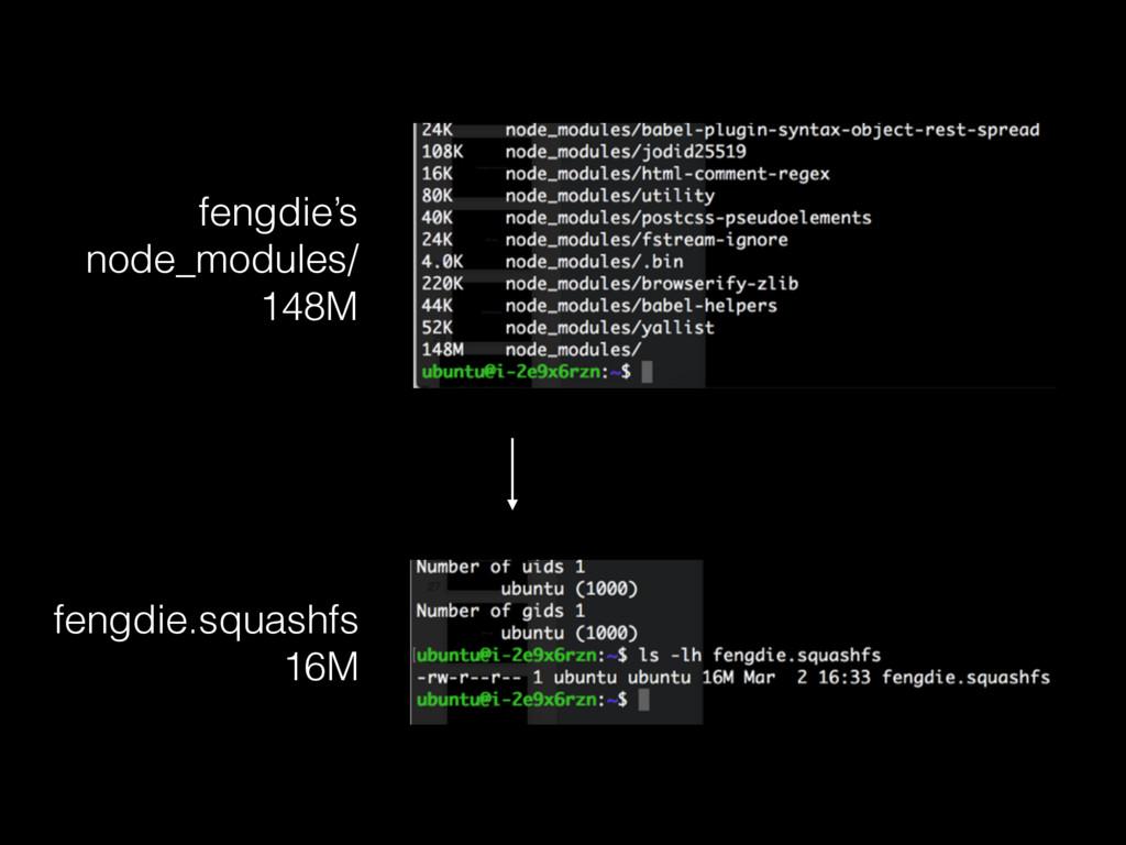 fengdie's node_modules/ 148M fengdie.squashfs ...