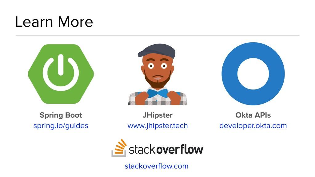 Learn More stackoverflow.com Spring Boot   spri...