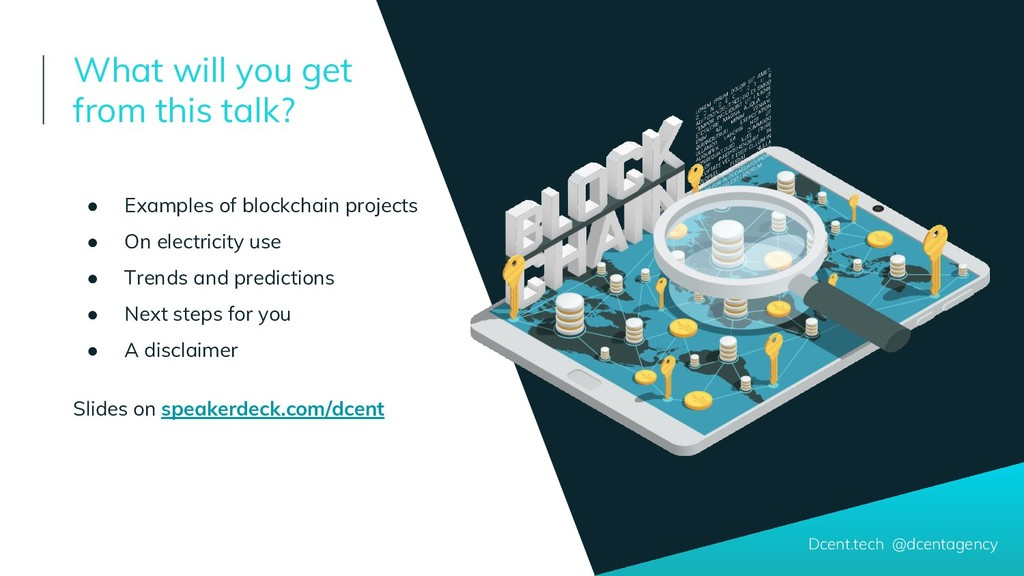 ● Examples of blockchain projects ● On electric...