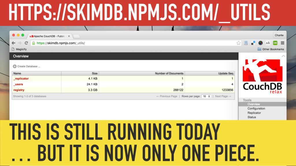 HTTPS://SKIMDB.NPMJS.COM/_UTILS THIS IS STILL R...