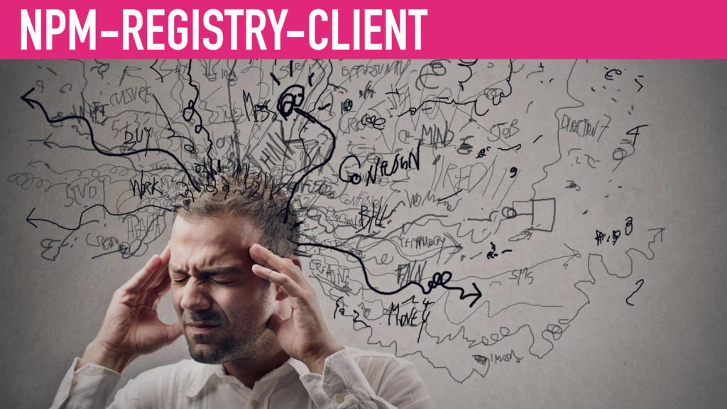 NPM-REGISTRY-CLIENT