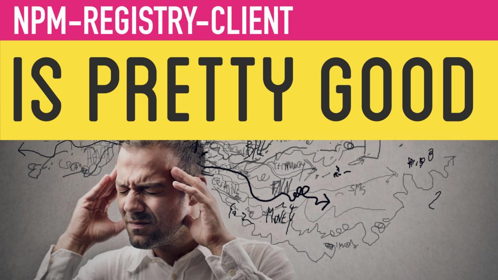 IS PRETTY GOOD NPM-REGISTRY-CLIENT