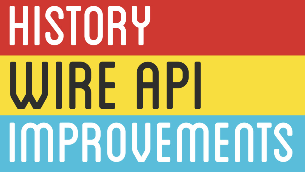 IMPROVEMENTS WIRE API HISTORY