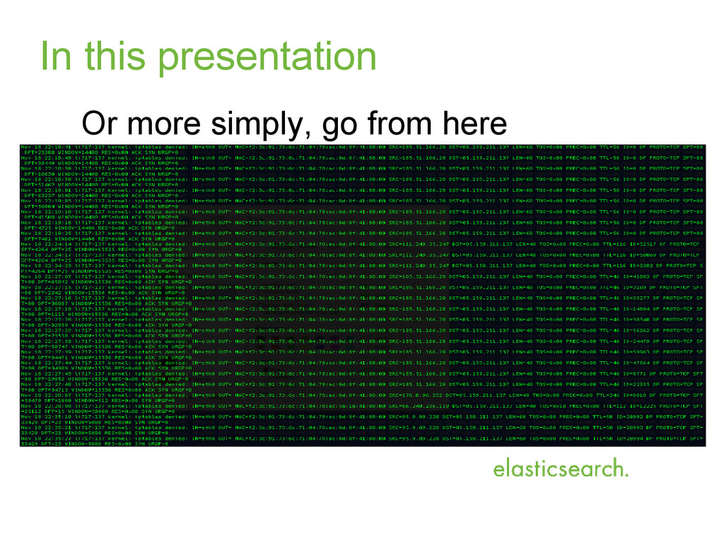 In this presentation Or more simply, go from he...