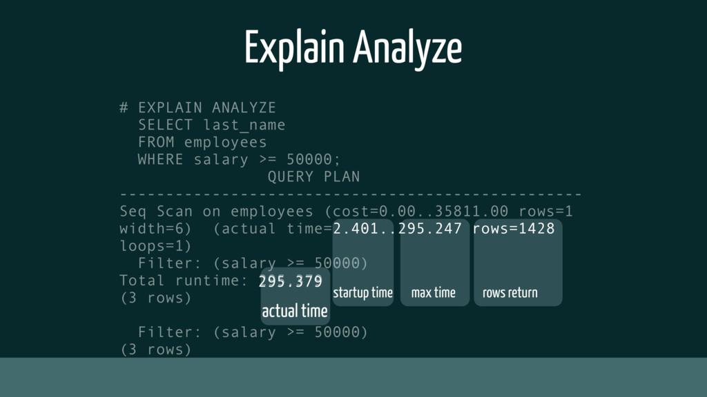 Explain Analyze # EXPLAIN ANALYZE SELECT last_n...