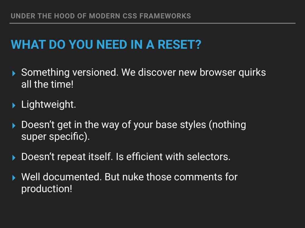 UNDER THE HOOD OF MODERN CSS FRAMEWORKS WHAT DO...