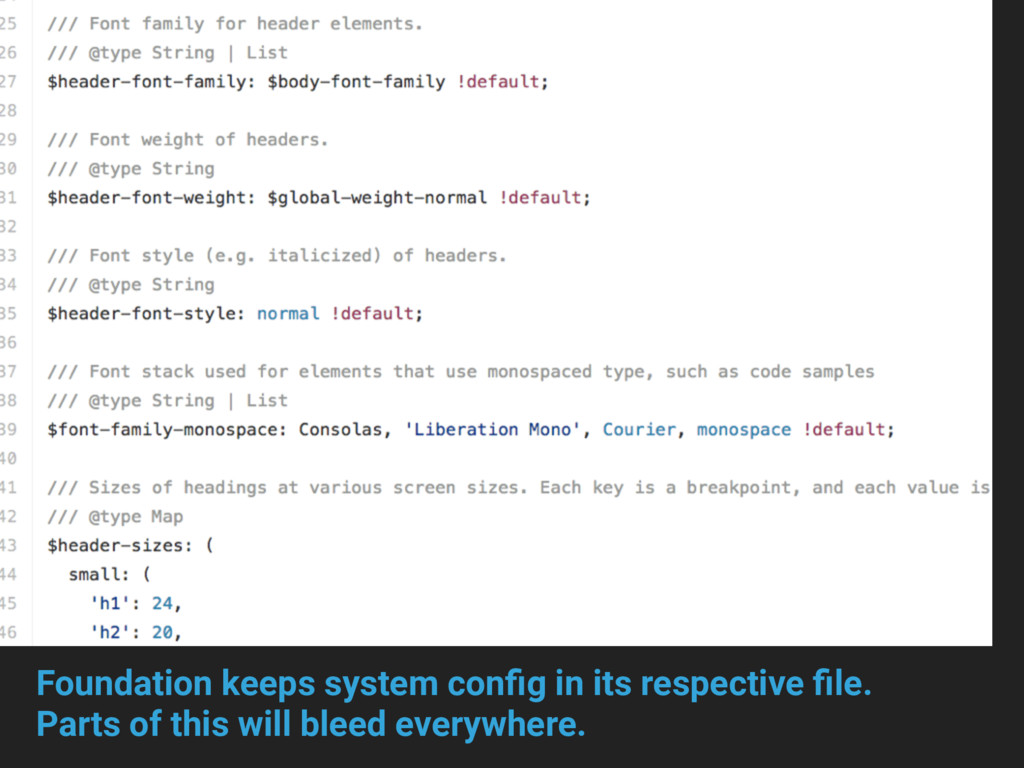 Foundation keeps system config in its respective...