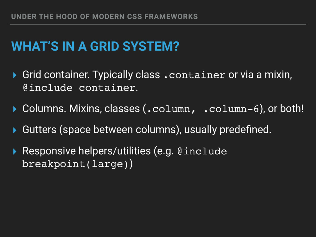 UNDER THE HOOD OF MODERN CSS FRAMEWORKS WHAT'S ...