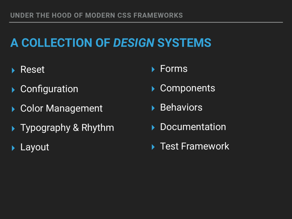 UNDER THE HOOD OF MODERN CSS FRAMEWORKS A COLLE...