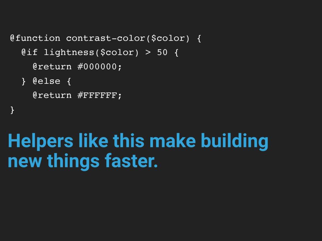 @function contrast-color($color) { @if lightnes...
