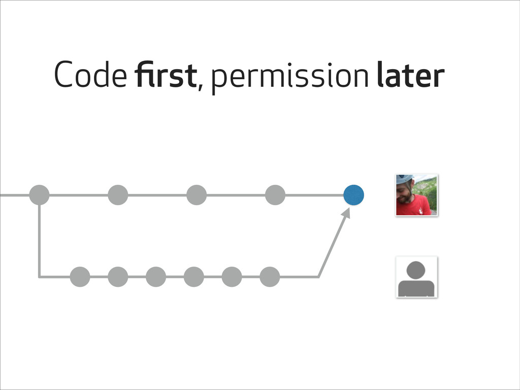 Code first, permission later