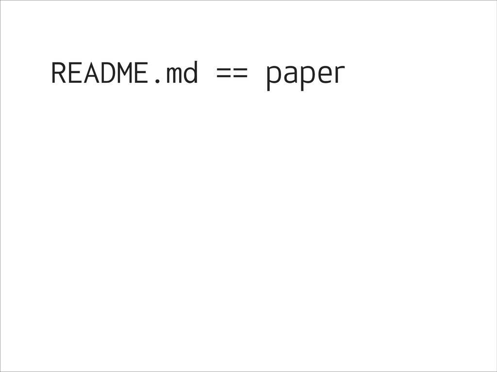 README.md == paper