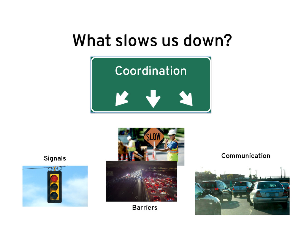 What slows us down? Coordination Signals Barrie...