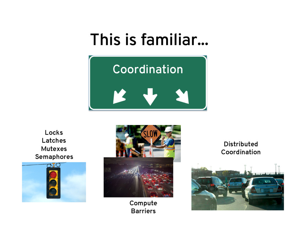 This is familiar... Coordination Locks Latches ...