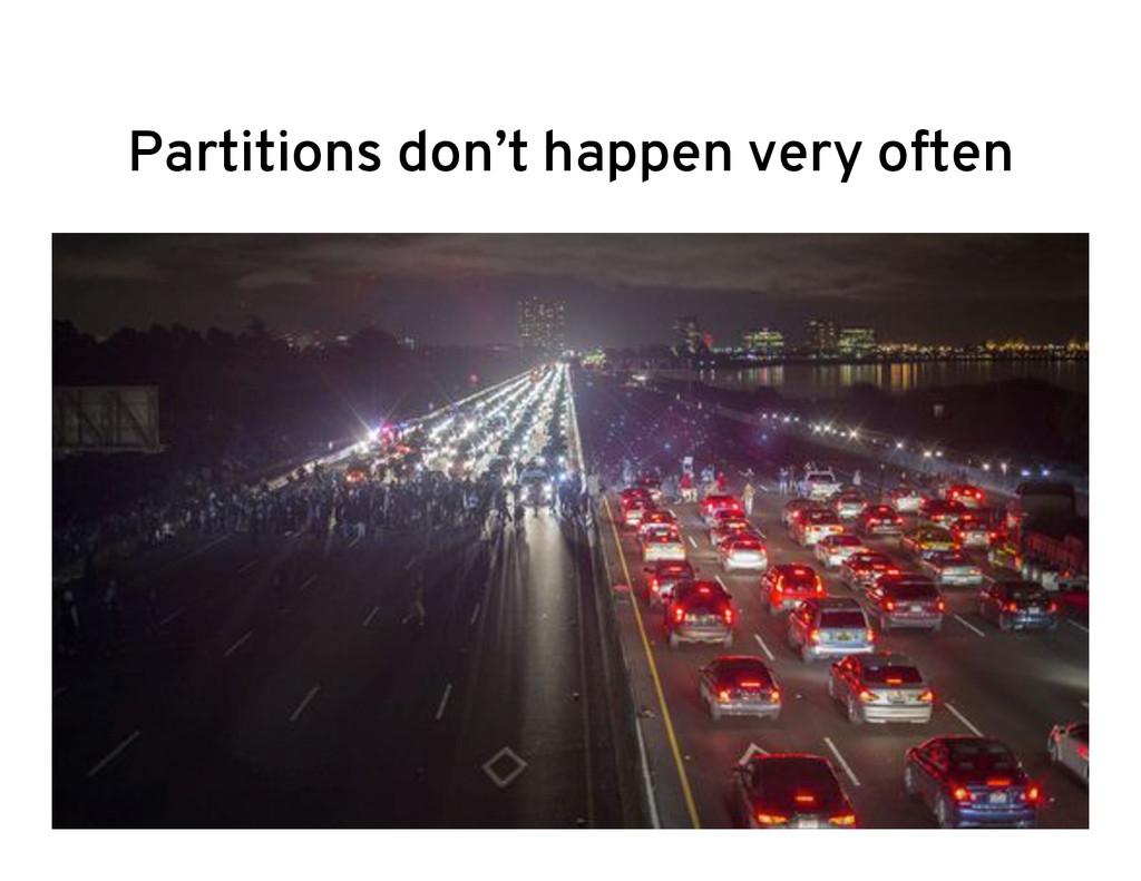 Partitions don't happen very often