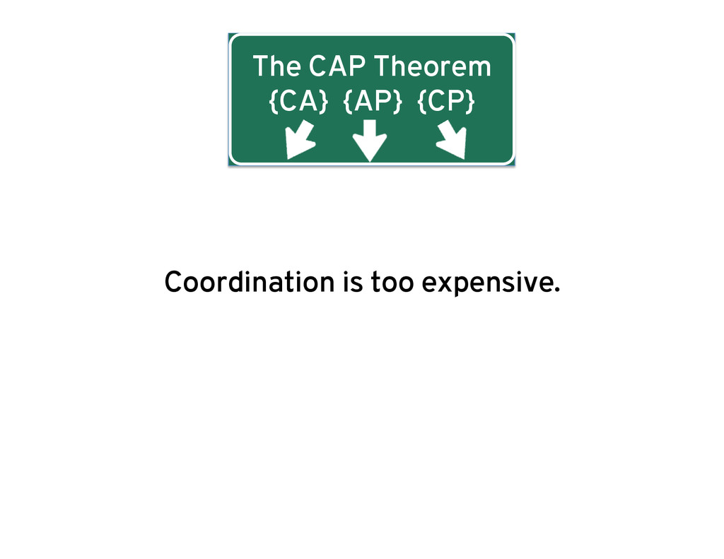 The CAP Theorem {CA} {AP} {CP} Coordination is ...