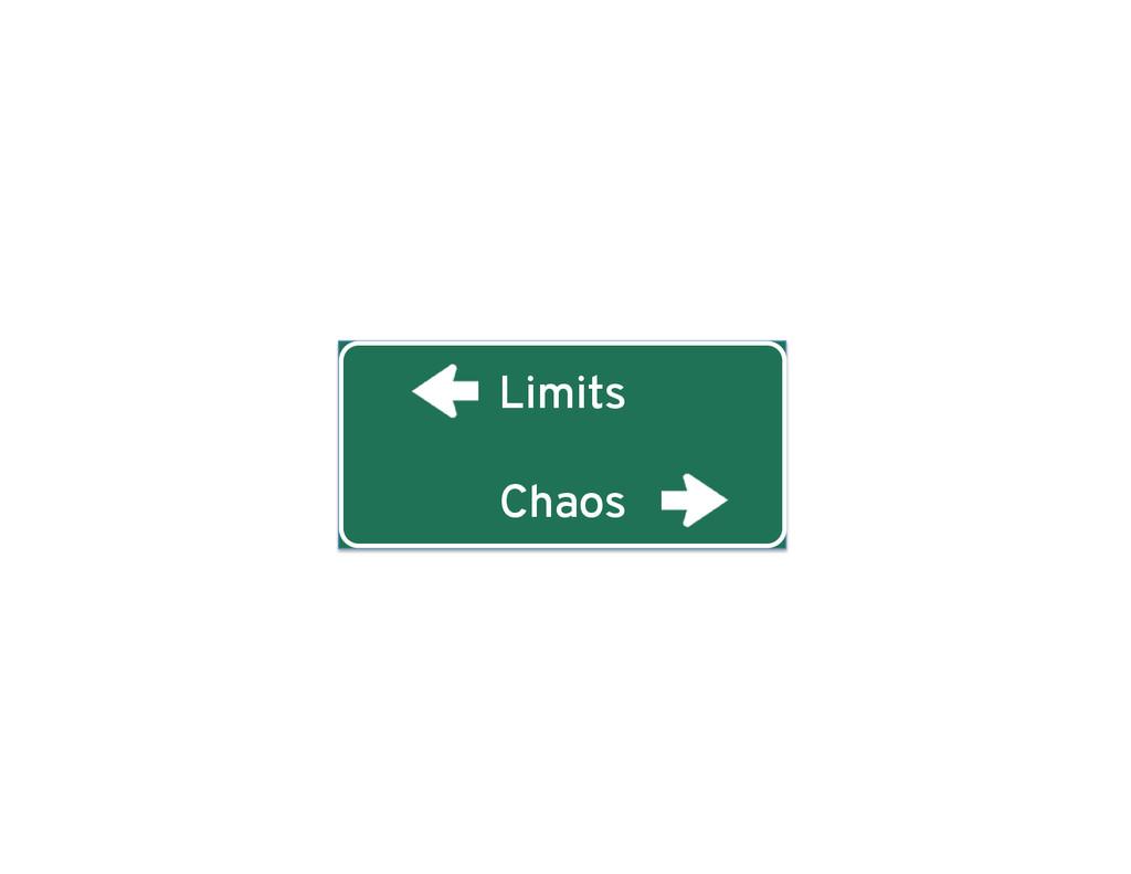 Limits Chaos