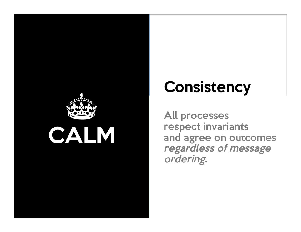 ± CALM Consistency As Logical Monotonicity All ...