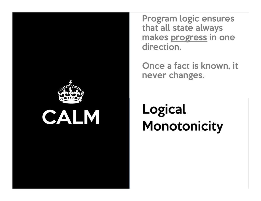 ± CALM Consistency As Logical Monotonicity Prog...