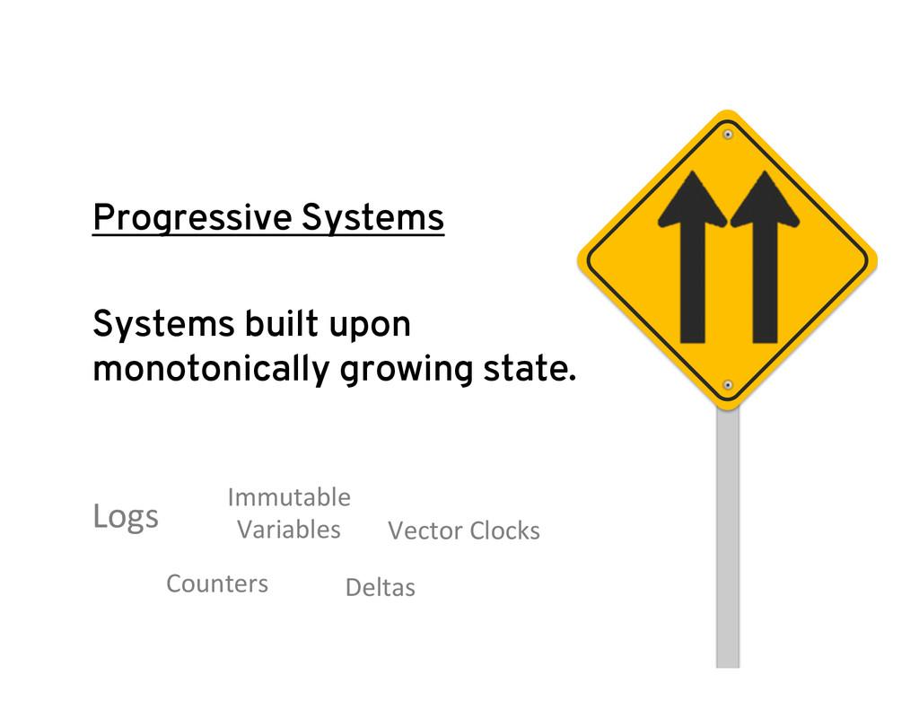 Progressive Systems Systems built upon monotoni...