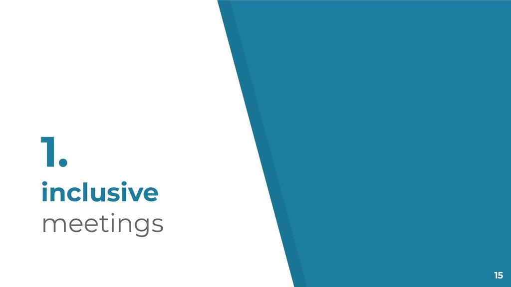 15 1. inclusive meetings