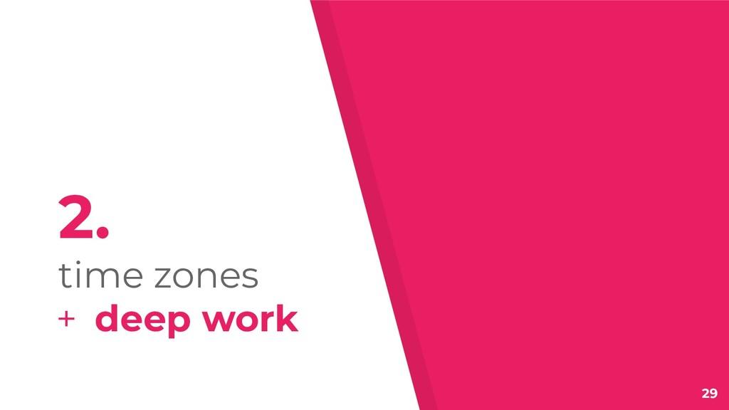 29 2. time zones + deep work