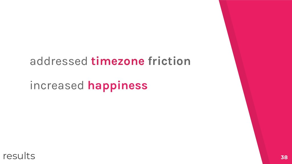 38 addressed timezone friction increased happin...