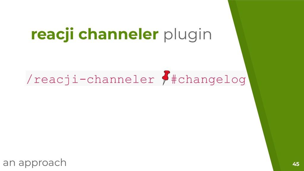 45 /reacji-channeler #changelog reacji channele...