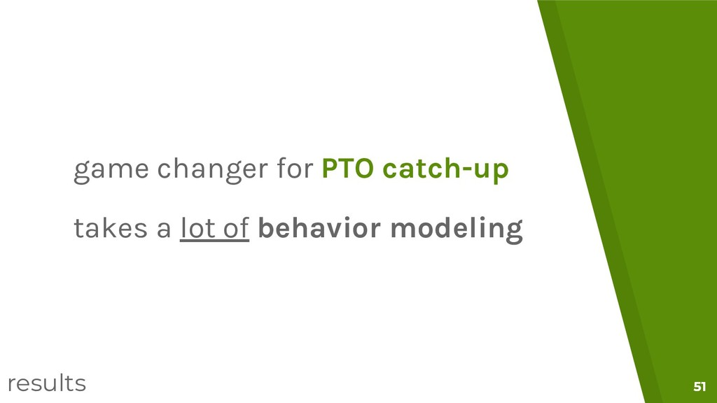 51 51 game changer for PTO catch-up takes a lot...