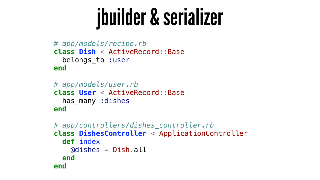 jbuilder & serializer # app/models/recipe.rb cl...