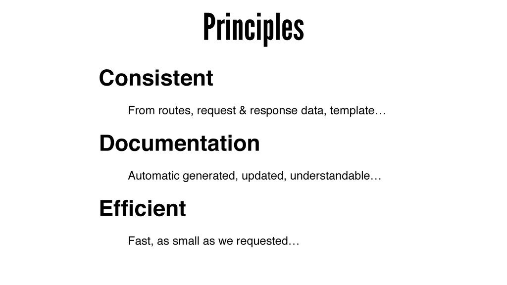 Principles Documentation Consistent Efficient Fr...