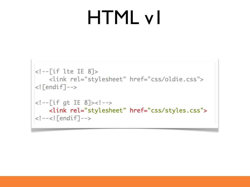 HTML v1