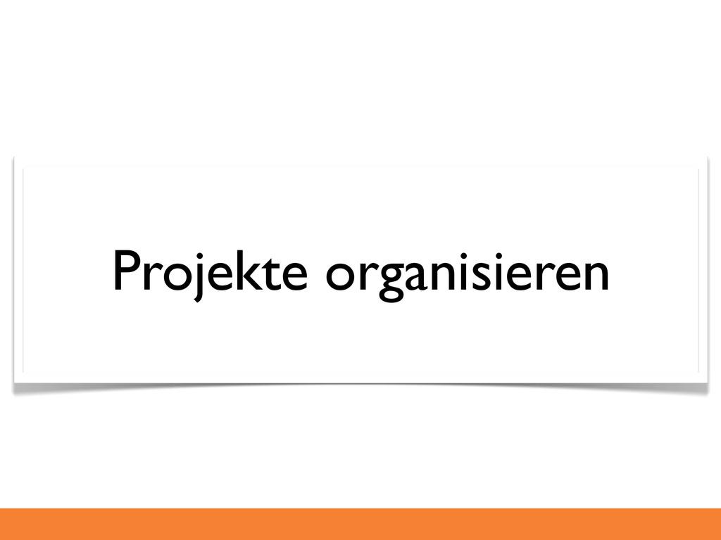 Projekte organisieren