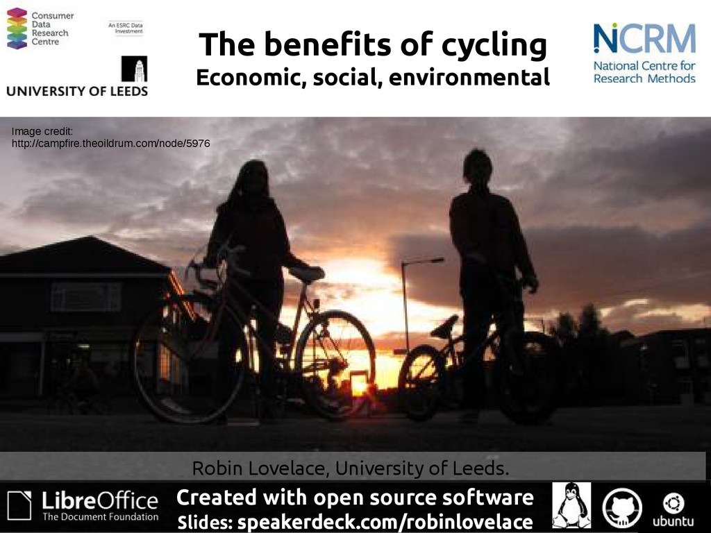 The benefits of cycling Economic, social, envir...