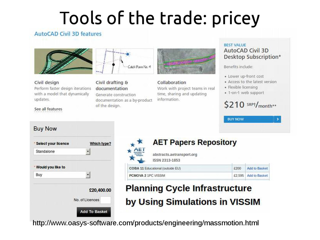 Tools of the trade: pricey http://www.oasys-sof...