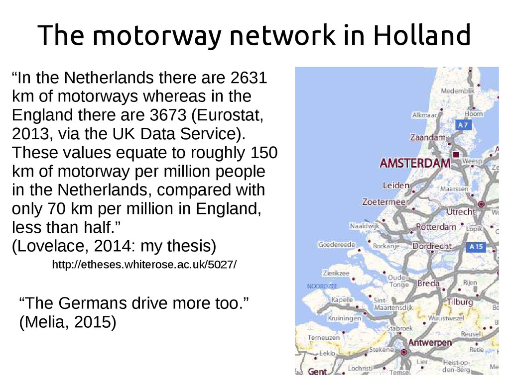 "The motorway network in Holland ""In the Netherl..."