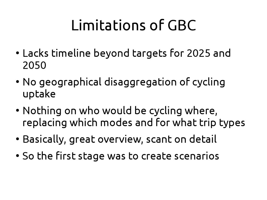 Limitations of GBC ● Lacks timeline beyond targ...