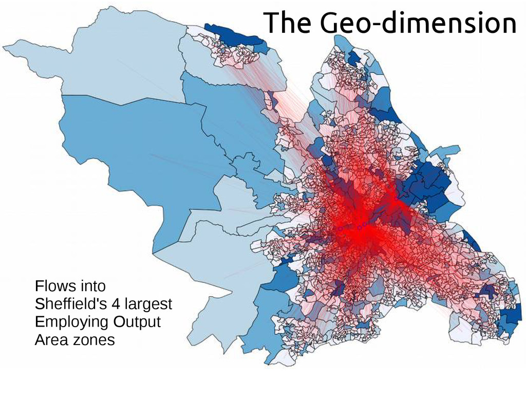 The Geo-dimension Flows into Sheffield's 4 larg...