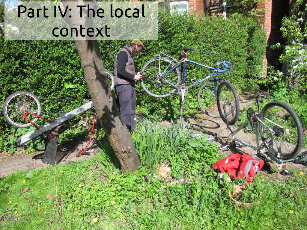 Part IV: The local context