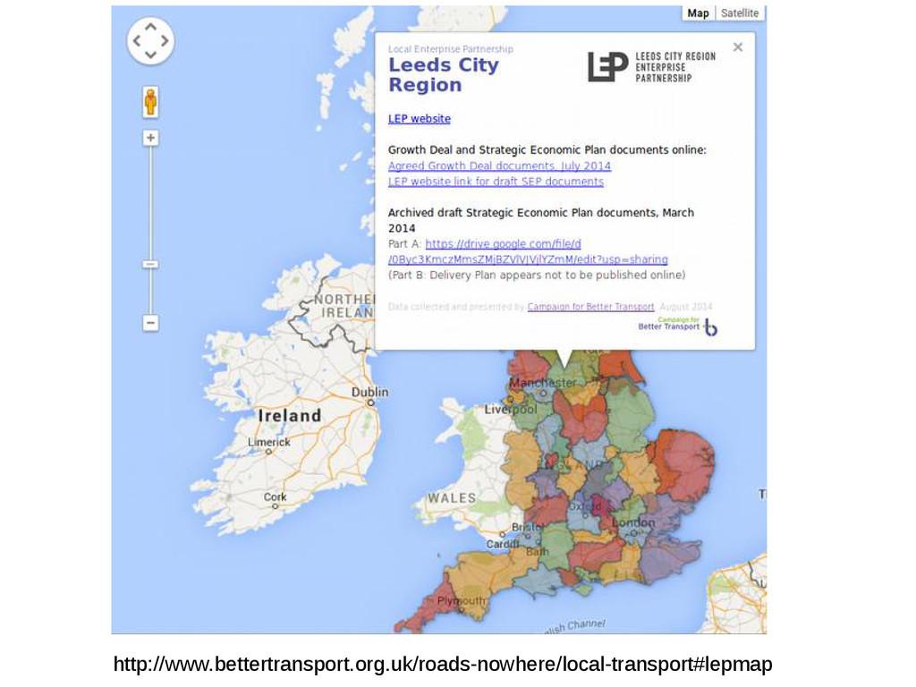 http://www.bettertransport.org.uk/roads-nowhere...