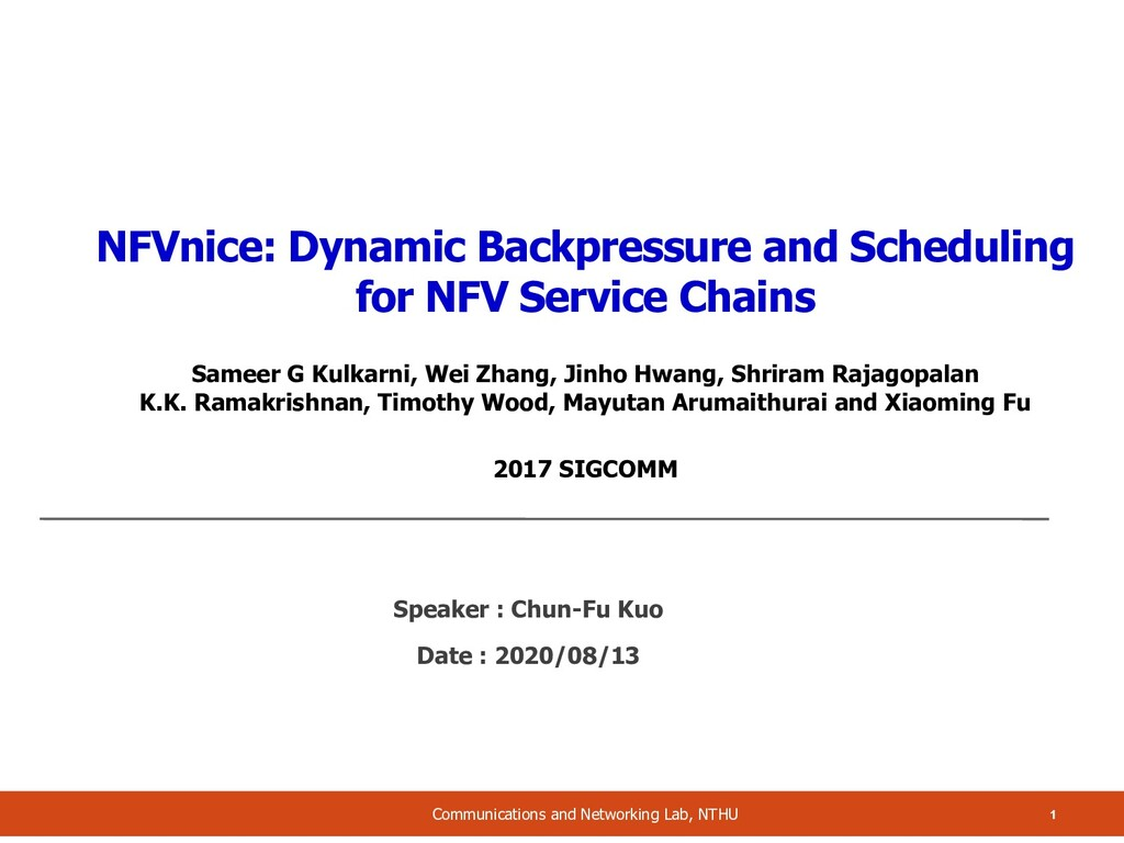 NFVnice: Dynamic Backpressure and Scheduling fo...
