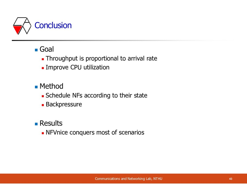 Conclusion n Goal n Throughput is proportional ...